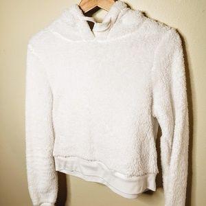 🗯Snow-White Short Hooded Sweatshirt 🗯